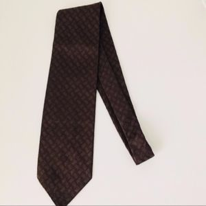 Brown Christian Dior tie